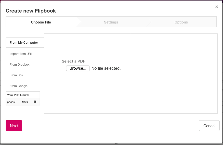 Upload a PDF to Create a Flipbook – Uberflip Help